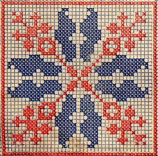 Образец вышивки крестом схемы