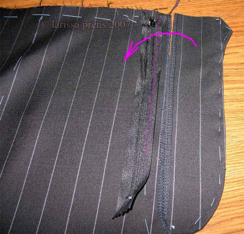 Как сделать задний карман на мужских брюках